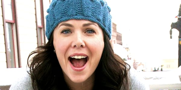 gilmore girls, knit, knitting, cold, winter, snow, celebs, funny face
