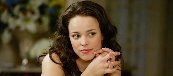 rachel mcadams, Wedding Crashers, brunette, thinking, smart, beautiful, Southern