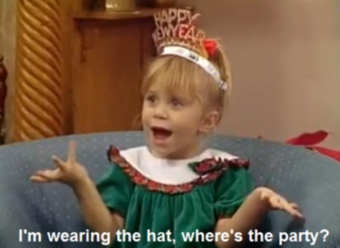 olsen twins, full house, party, New Years, hs