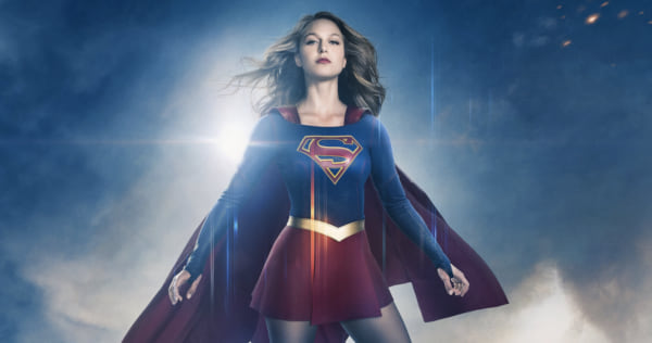Supergirl looking serious as she hovers in the air., pop culture, movies/tv