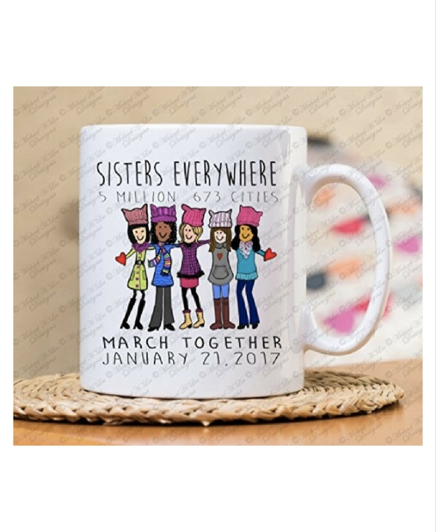 women's march, where to buy women's march 2018 clothes merchandise pussy hats signs mugs