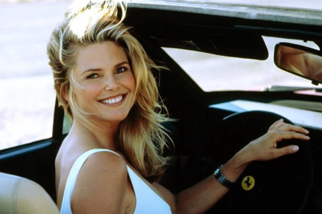 christie brinkley, 80s, car, driving