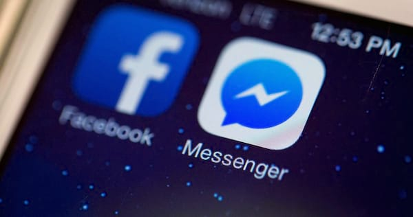 Close up of Facebook app on a phone., science & tech