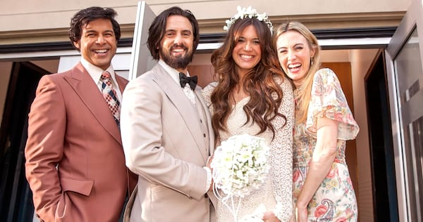 Photo of Jack and Rebecca at their wedding from This Is Us., pop culture, movies/tv