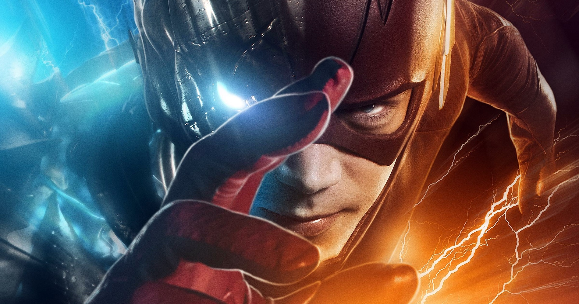 The Flash running toward the camera., movies/tv, pop culture