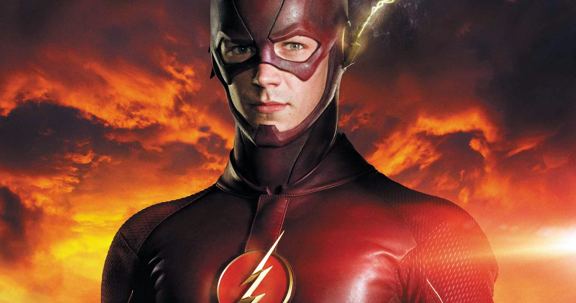 The Flash standing still and staring at the camera., movies/tv, pop culture