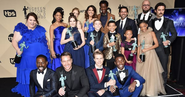 The cast of This Is Us at an awards show., wdc-slideshow, pop culture, movies/tv