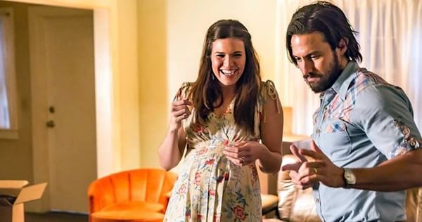 Rebecca and Jack laughing from This Is Us., wdc-slideshow, movies/tv, pop culture