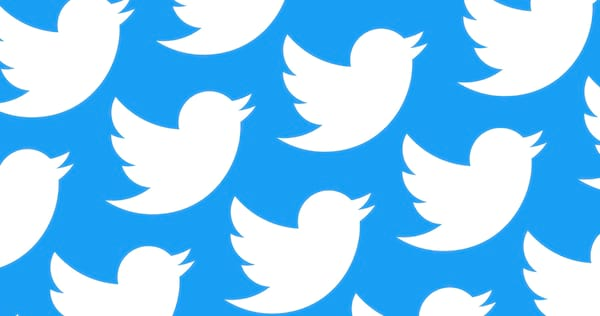 Several white Twitter logos with a blue background., wdc-slideshow, science & tech