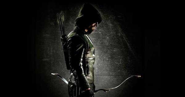 Green Arrow standing profile with his bow in hand., wdc-slideshow, pop culture, movies/tv