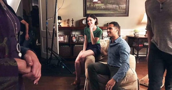 Lucy Hale and Elliot Knight on the set of Life Sentence., wdc-slideshow, pop culture, movies/tv