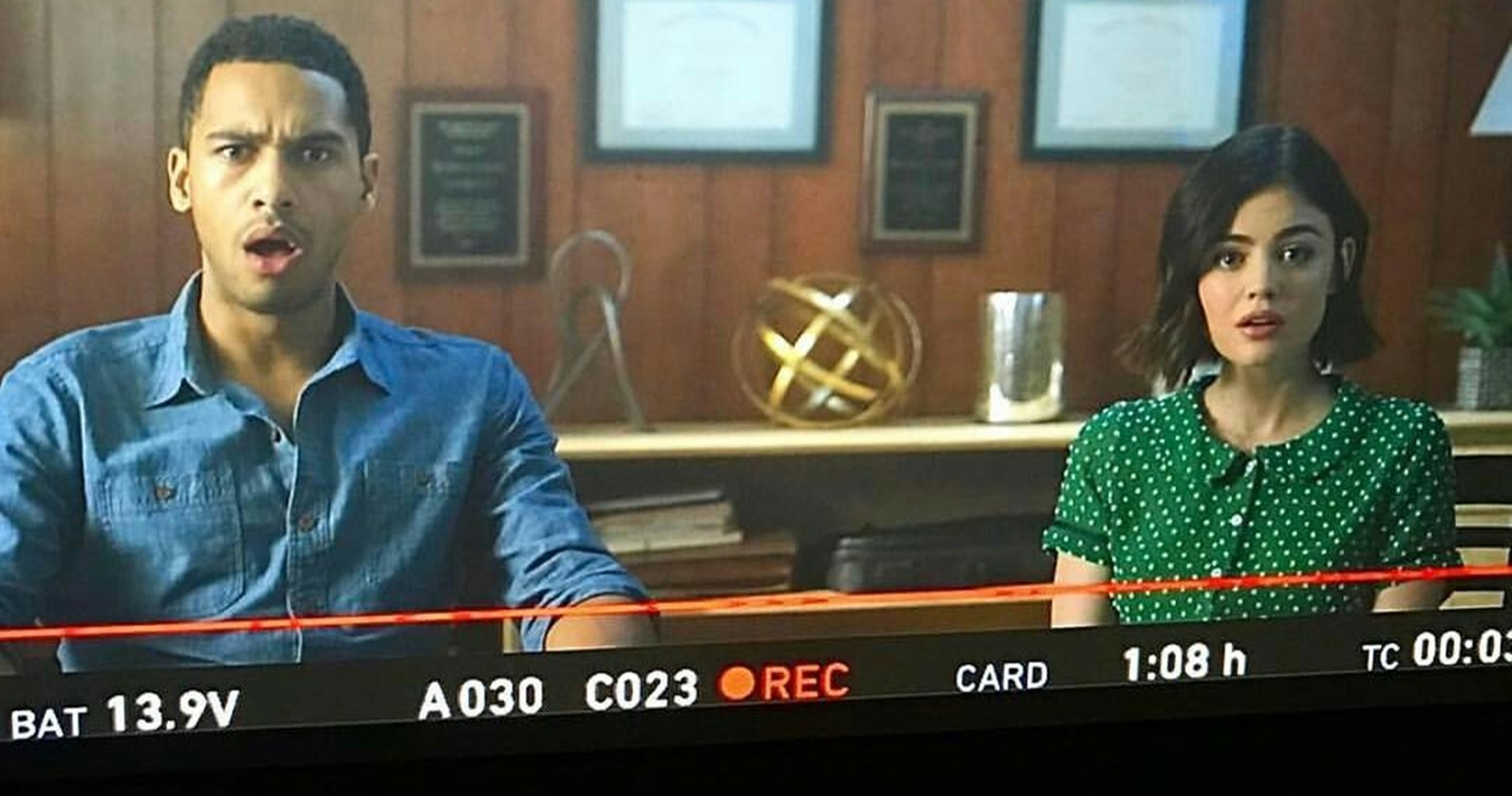 Wes and Stella from Life Sentence looking stunned., pop culture, movies/tv, wdc-slideshow