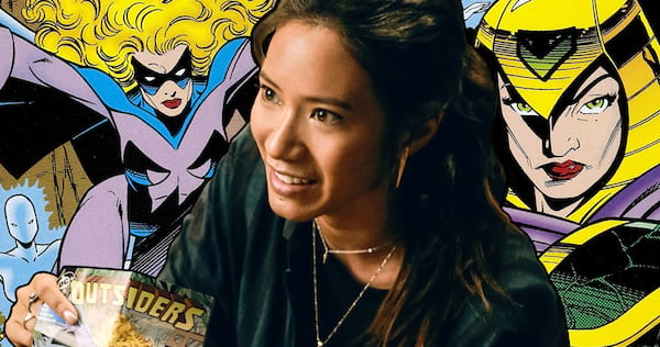 Grace Choi from Black Lightning holding an Outsiders comic book and smiling., pop culture, movies/tv, wdc-slideshow