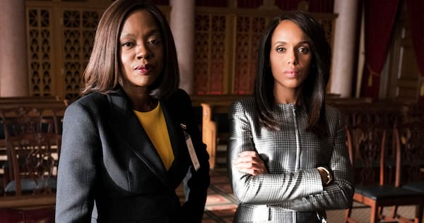 Annalise Keating and Olivia Pope from the crossover episode of How To Get Away With Murder., pop culture, movies/tv, wdc-slideshow