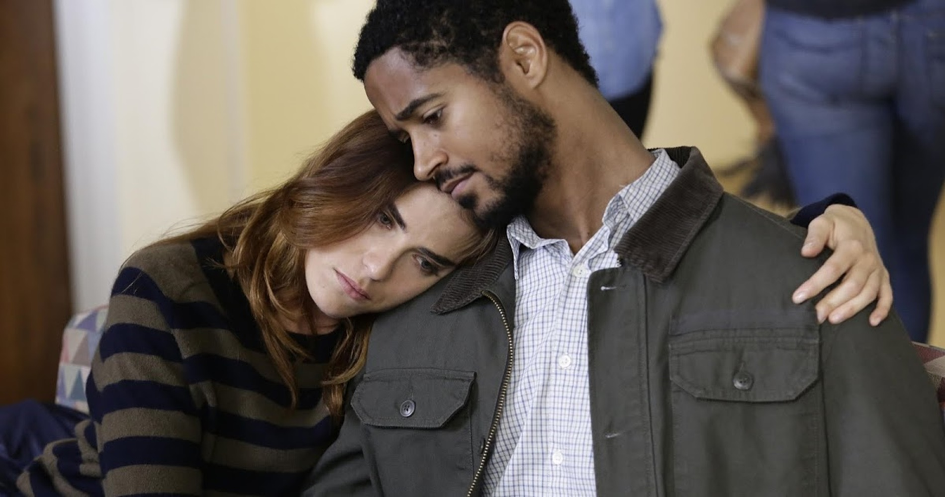 Laurel lying her head on Wes' shoulder from How To Get Away With Murder., movies/tv, pop culture, wdc-slideshow