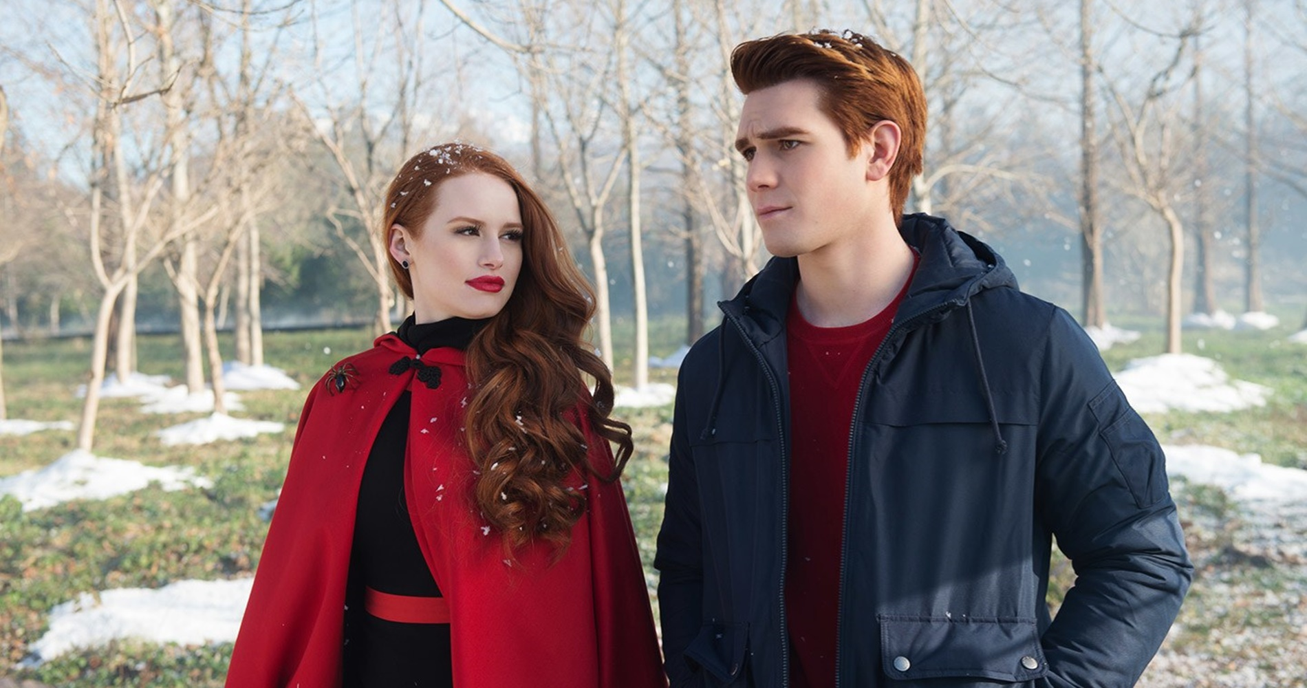 Archie and Cheryl from Riverdale walking outside., pop culture, movies/tv, wdc-slideshow