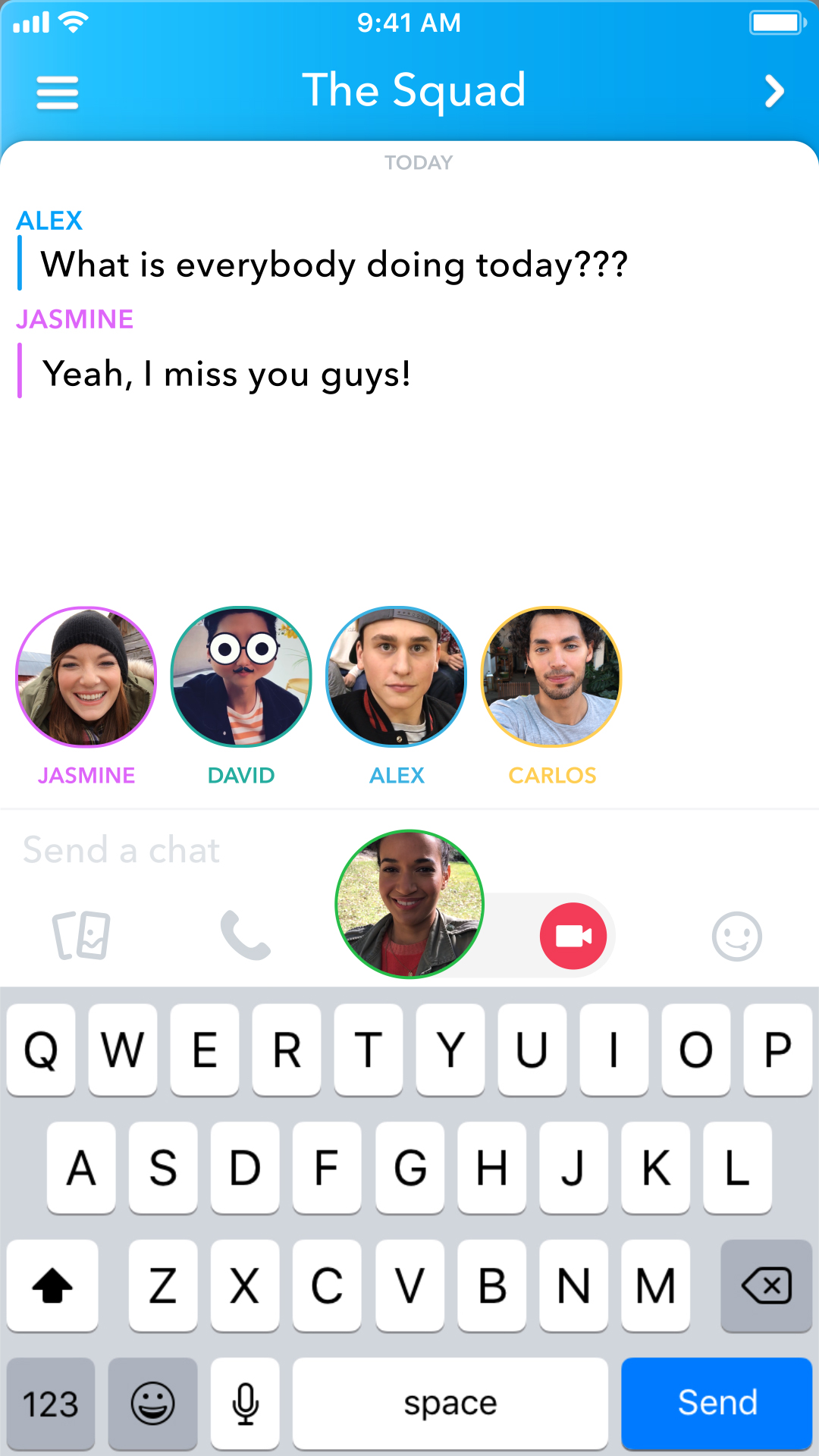 How To Use Snapchat Group Video Chat, call, voice, April 2018 Update