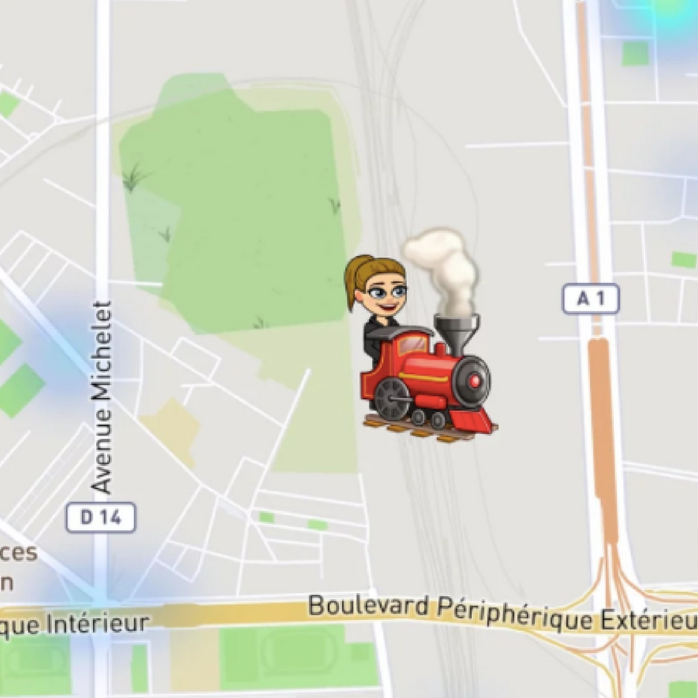 what do the emojis on snapchat map mean, Bitmoji, Snapchat map, train, snapchat