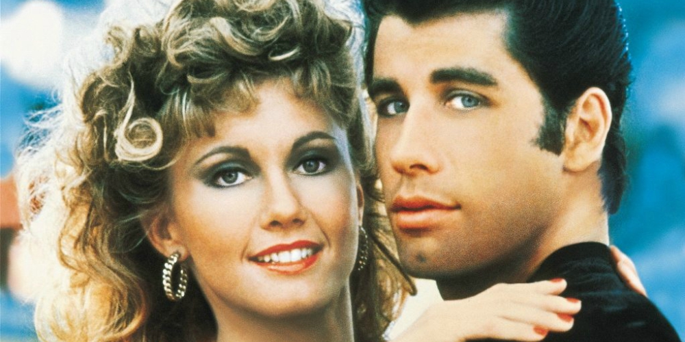 Olivia Newton-John and John Travolta as Danny and Sandy in Grease, celebs, movies/tv, pop culture