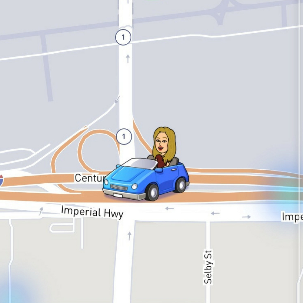 what do the emojis on snapchat map mean, Bitmoji, Snapchat map, driving, red car