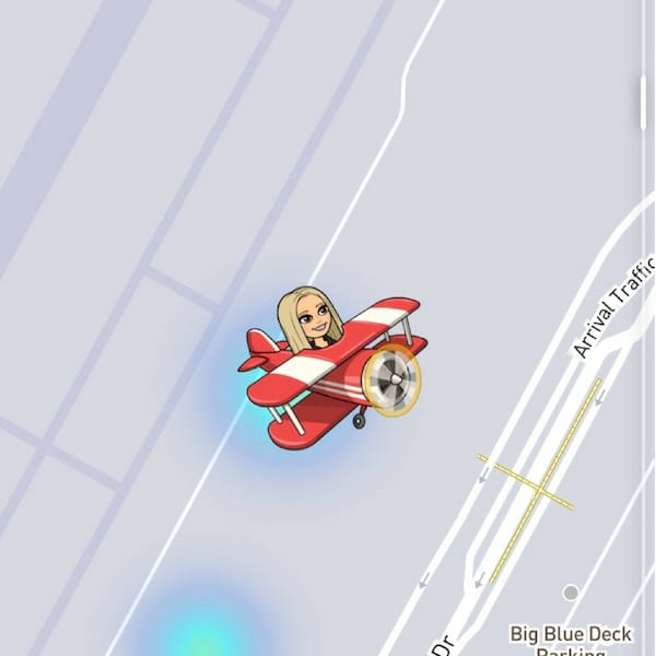what do the emojis on snapchat map mean, Bitmoji, Snapchat map, red airplane, flying, airplane