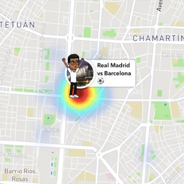 what do the emojis on snapchat map mean, Bitmoji, Snapchat map, sports arena, sporting event