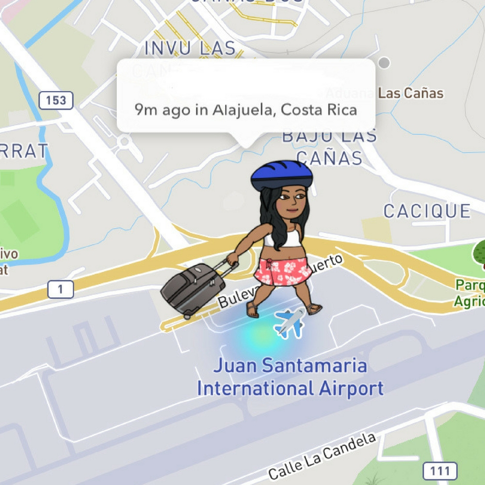 what do the emojis on snapchat map mean, Bitmoji, Snapchat map, luggage, airport
