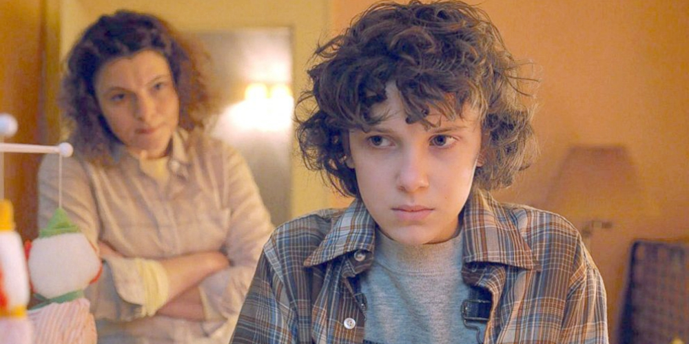 Millie Bobby Brown as Eleven meeting her mom in Netflix's Stranger Things 2, celebs, movies/tv