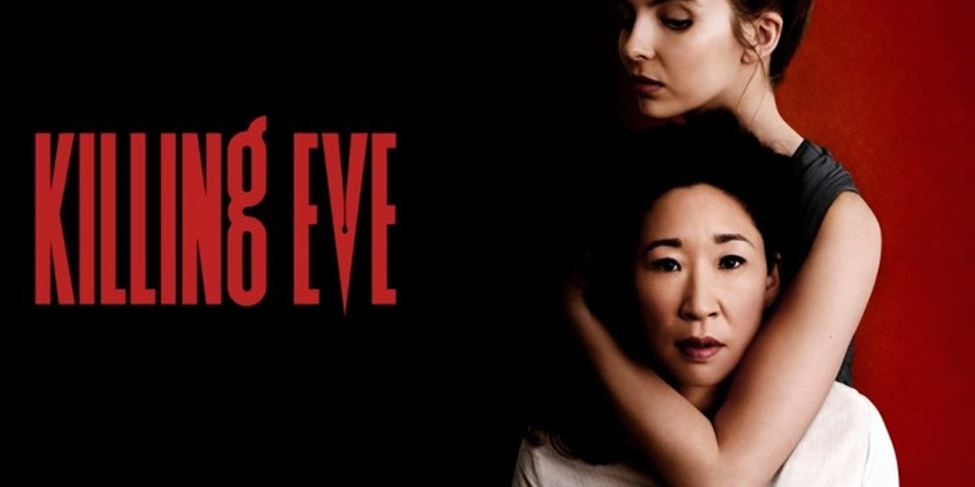 Villanelle from Killing Eve has her arm wrapped around Eve's neck., movies/tv, pop culture, wdc-slideshow