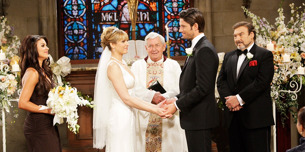 A couple getting married on Days of Our Lives., movies/tv, pop culture, wdc-slideshow