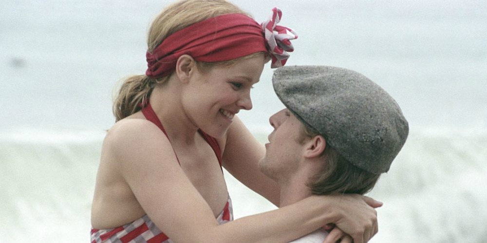Allie and Noah at the beach in The Notebook saying \If you're a bird, I'm a bird.\, movies/tv