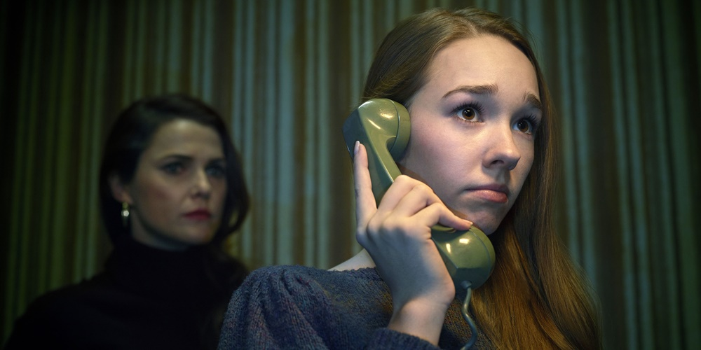 Paige from the Americans on the phone., movies/tv, pop culture, wdc-slideshow