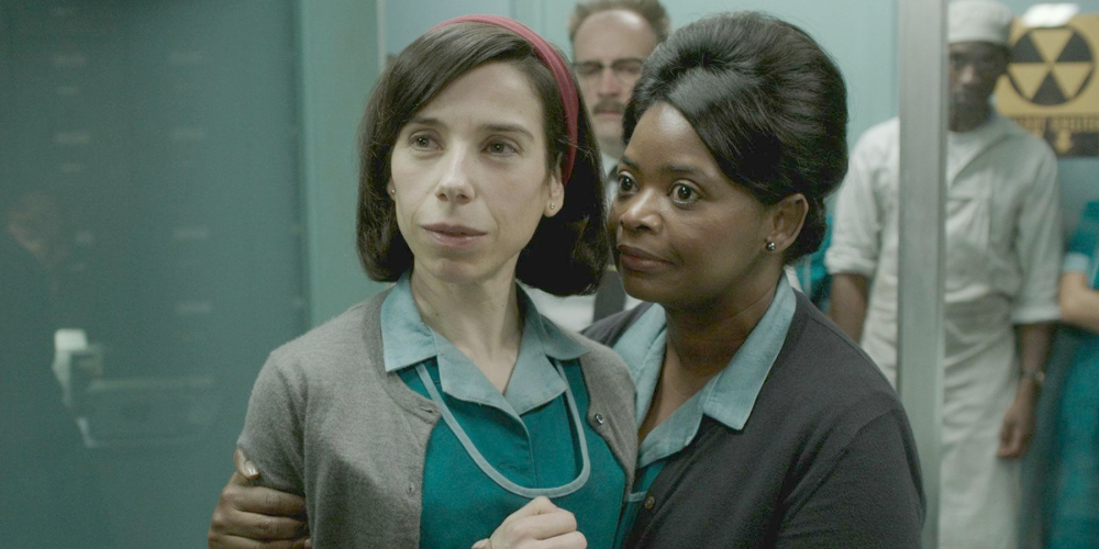 Sally Hawkins and Octavia Spencer as their characters in The Shape of Water, movies/tv