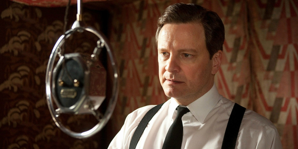 Colin Firth as King George VI in the Oscar-winning movie The King's Speech, movies/tv