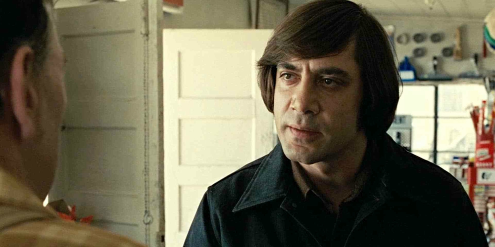 Javier Bardem in the Oscar-winning movie No Country for Old Men, movies/tv