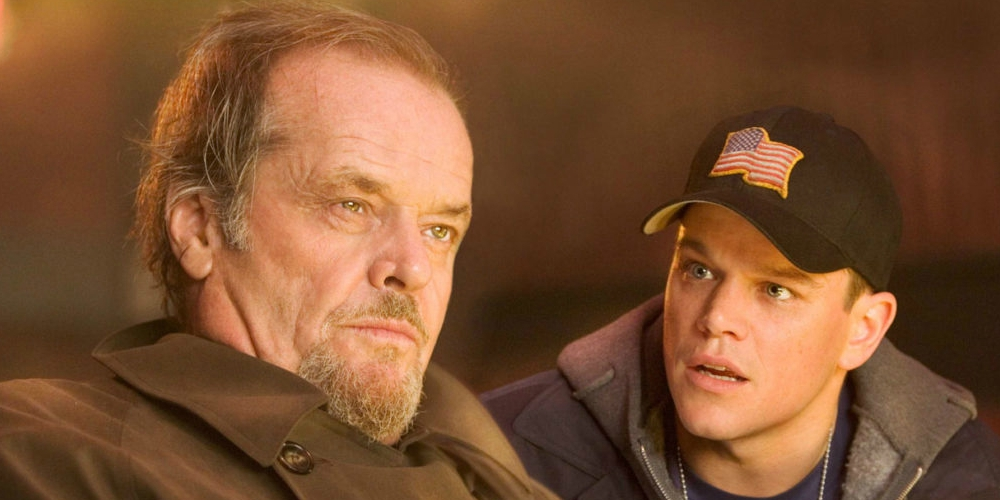 Jack Nicholson and Matt Damon in the Oscar-winning movie The Departed, movies/tv