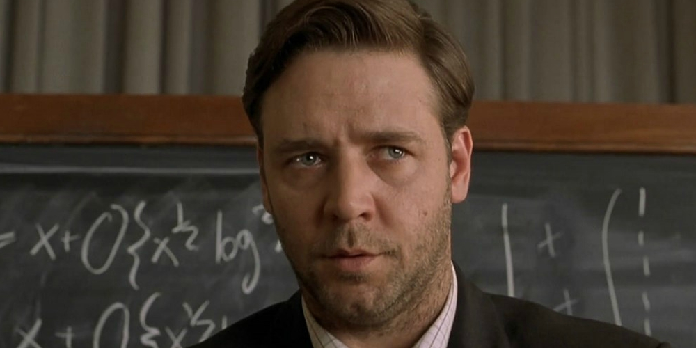 Russell Crowe in A Beautiful Mind, movies/tv