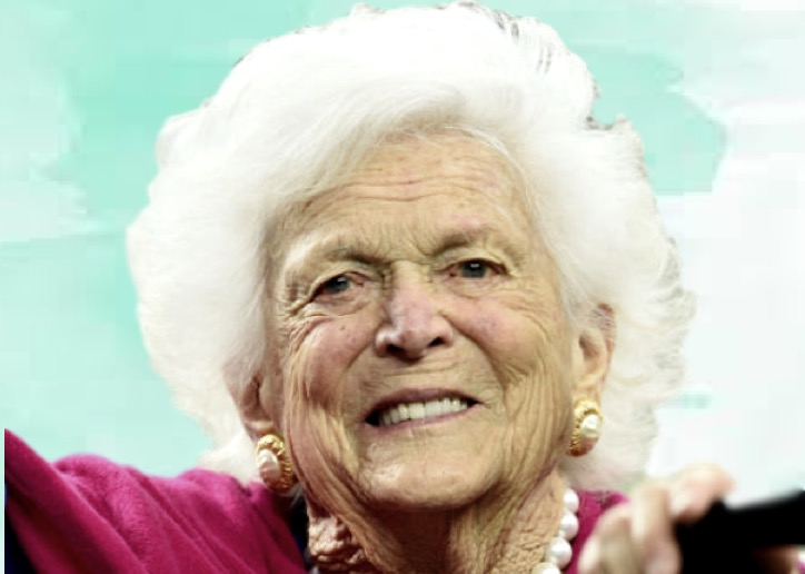 barbara bush then and now