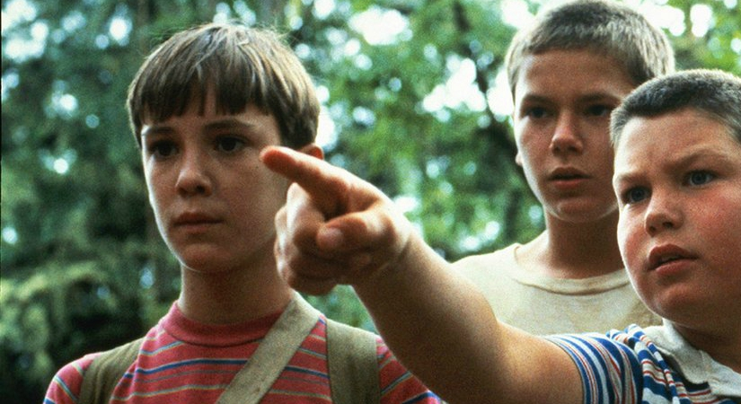 Closeup of the characters in the 1980s film Stand By Me, movies/tv