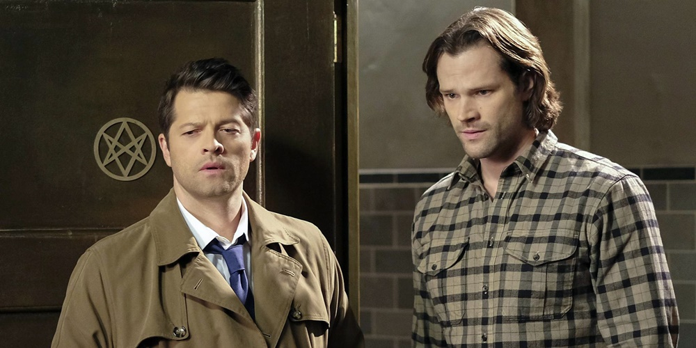 Castiel and Sam from Supernatural looking worried., movies/tv, pop culture, wdc-slideshow