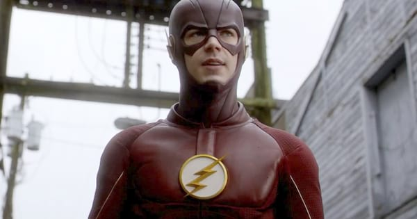 Barry Allen dressed as The Flash in The CW's The Flash, movies/tv