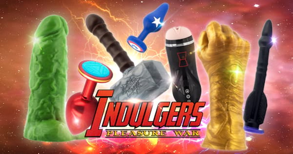 Line of Avengers-themed sex toys from Geeky Sex Toys called Indulgers: Pleasure War, sex