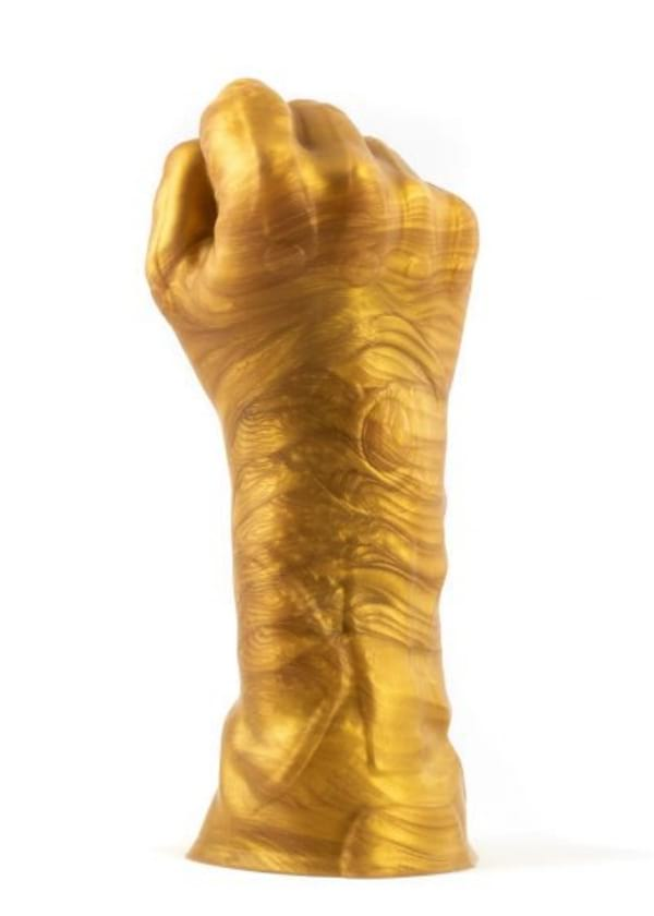 Thanos' gauntlet-inspired fist sex toy from Geeky Sex Toys, sex