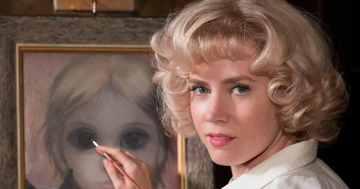 Amy Adams painting a picture of a woman in Big Eyes, movies/tv, Painting, art, artist