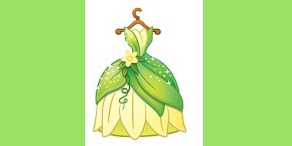 Disney, tiana's dress