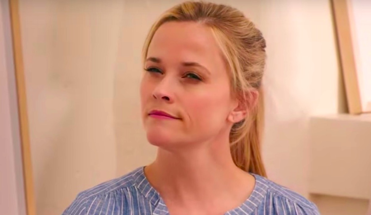reese witherspoon looking pensive in a striped shirt. reese witherspoon, thinking, idk, South, Southern, smart, quiz, juju