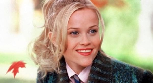 Reese Witherspoon in Legally Blond smiling while a leaf falls in the background. Reese witherspoon, Legally Blond, smart, teacher, school, law, South, Southern, east coast, new england, fall, juju