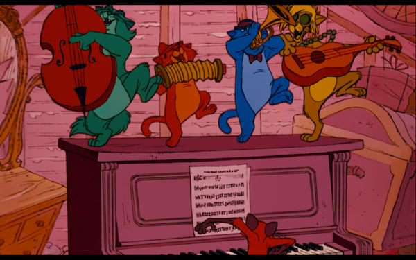 movies/tv, Disney, the aristocats, everybody wants to be a cat song