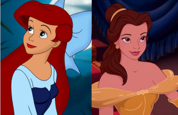movies/tv, Disney, the little mermaid, ariel, beauty and the beast, belle
