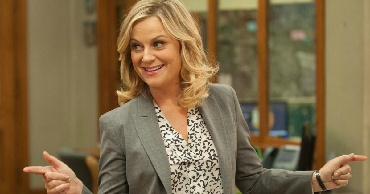 Amy Poehler as Leslie Knope in the NBC comedy Parks and Recreation